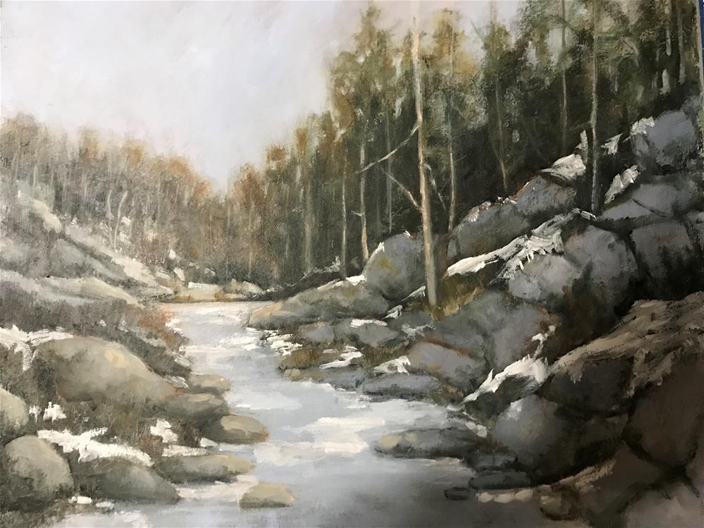 """""""a little snow left"""" original fine art by Betty Argiros"""
