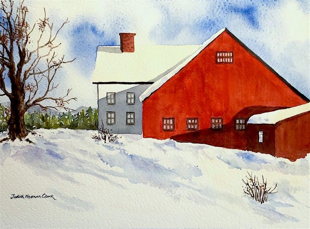"""New England Barn"" original fine art by Judith Freeman Clark"