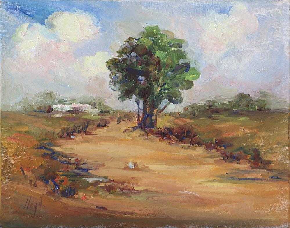 """Lone Tree"" original fine art by Diane Lloyd"