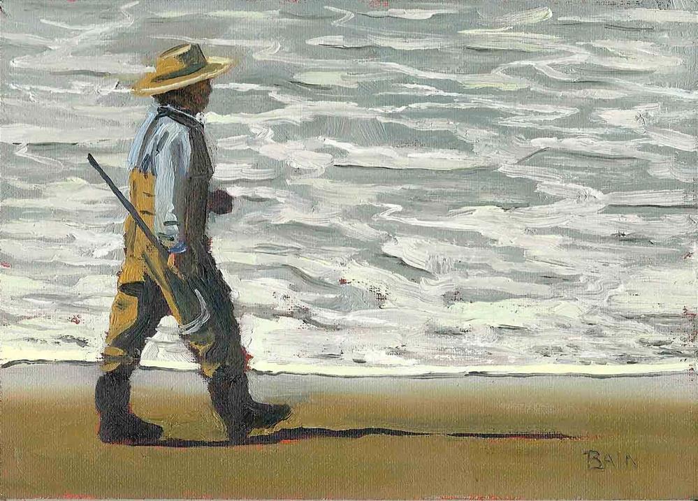 """Clamdigger #1"" original fine art by Peter Bain"