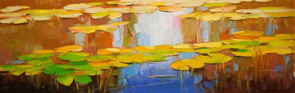 """""""Waterlilies Original oil painting"""" original fine art by V Y"""