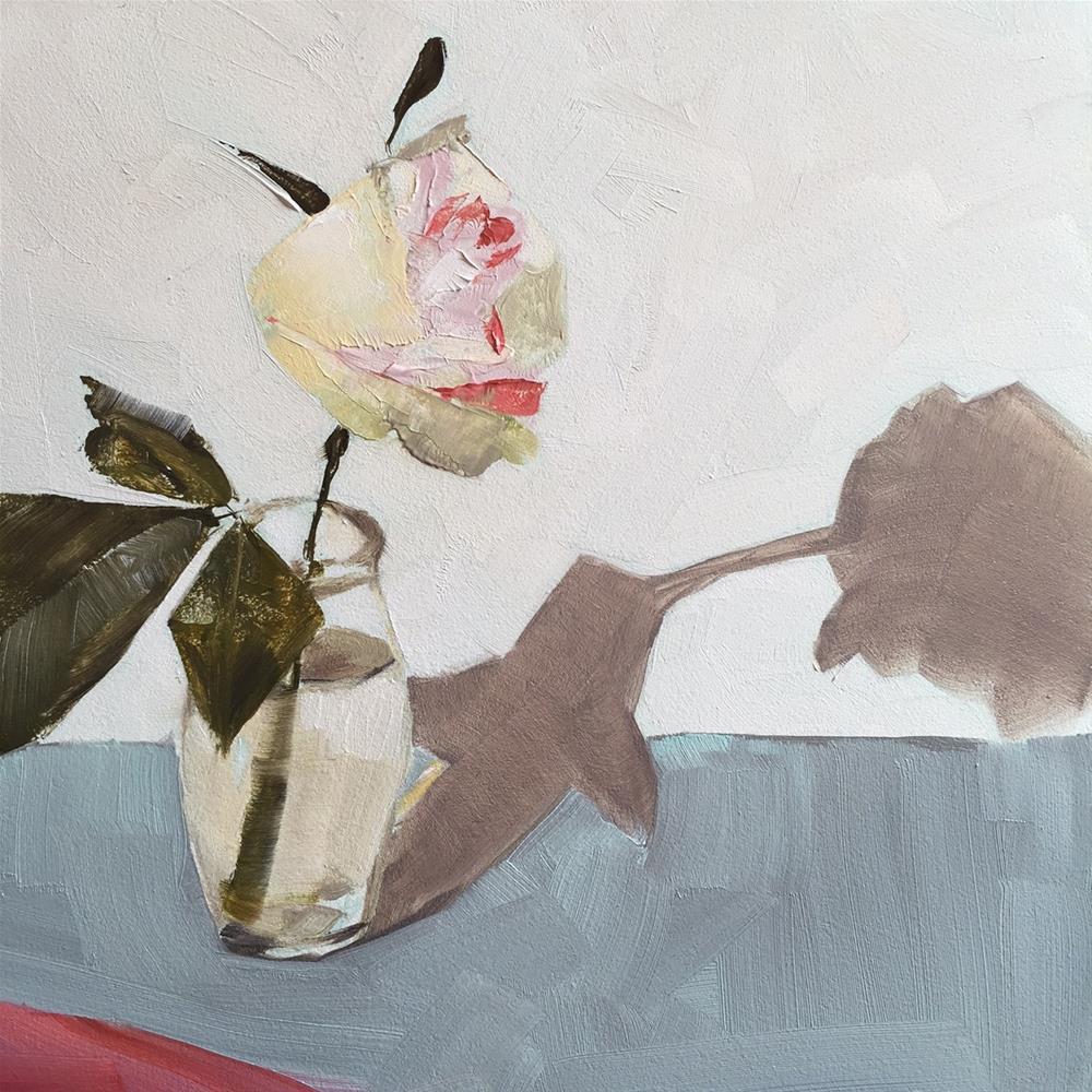 """""""153 Single Rose"""" original fine art by Jenny Doh"""