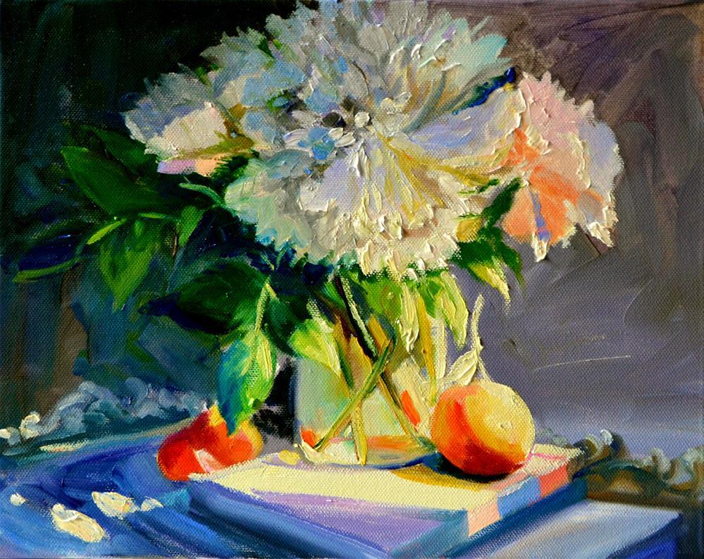 """""""WATERFORD NAARTJIES"""" original fine art by Cecilia Rosslee"""