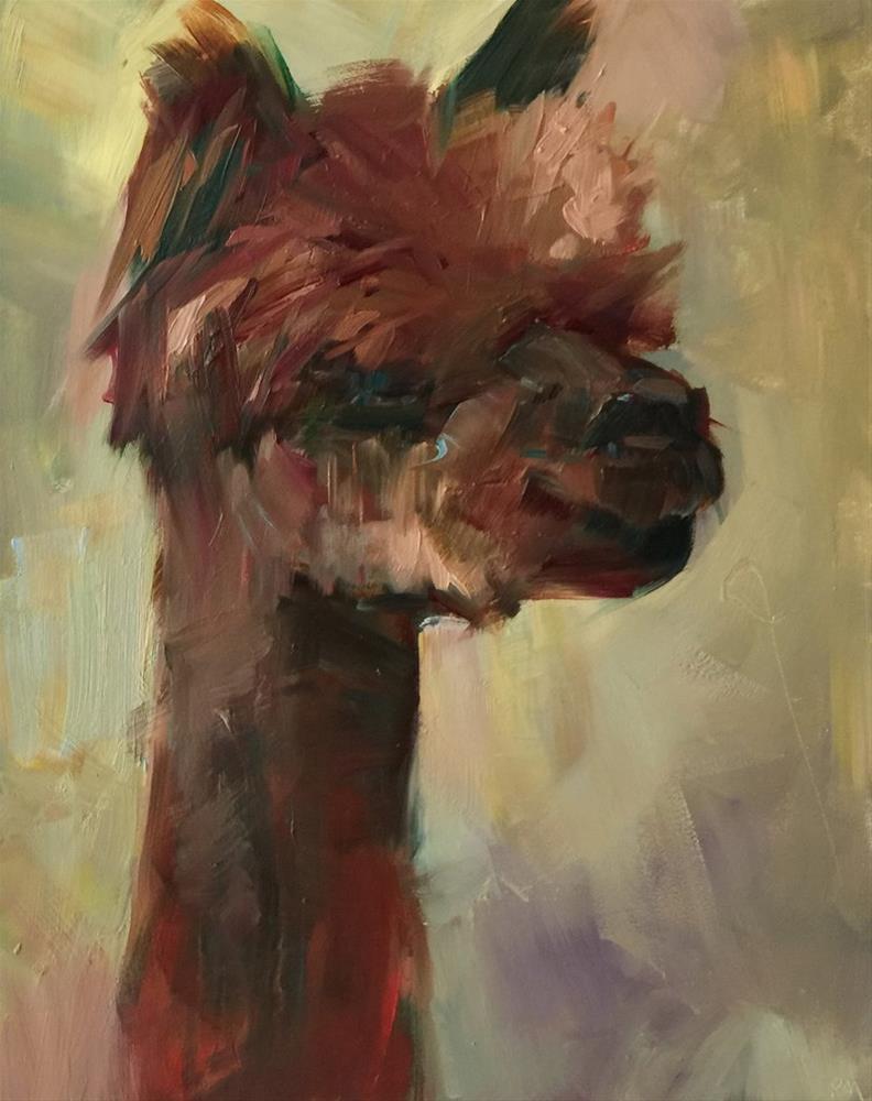 """Itty BIG Baby"" original fine art by Patti McNutt"