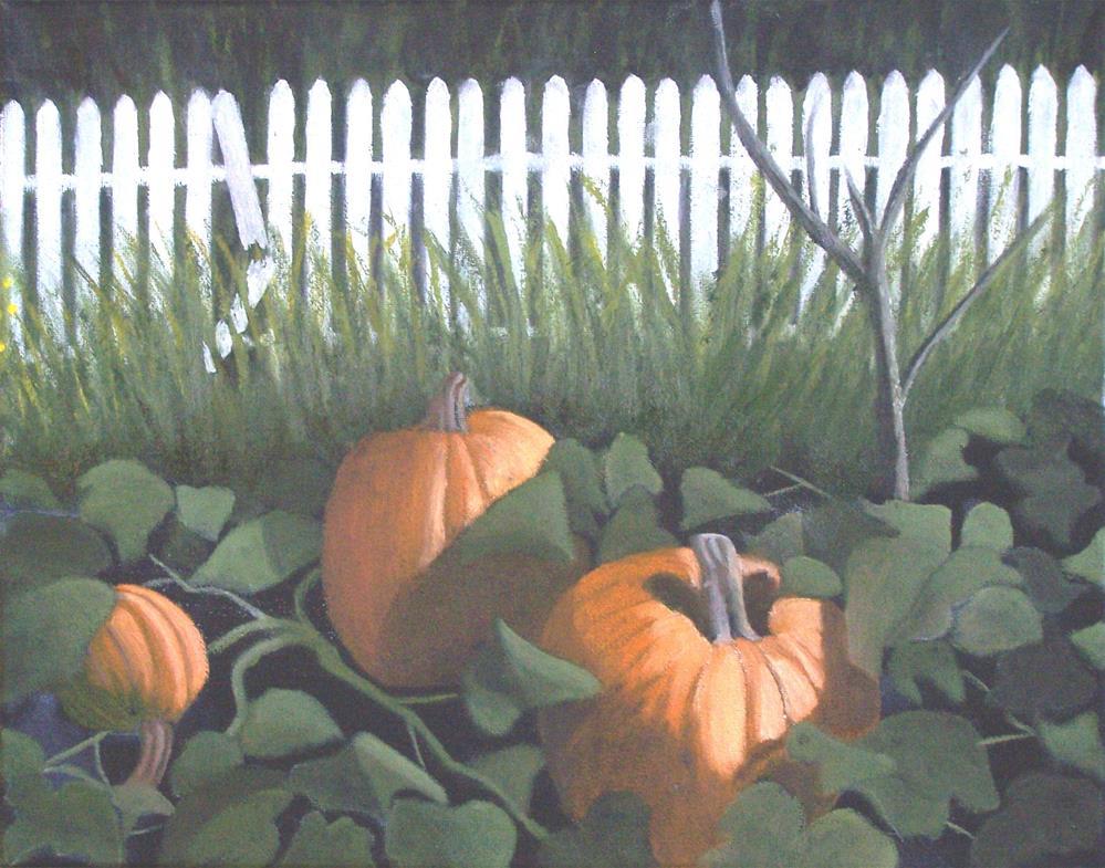 """""""Pumpkin Patch"""" original fine art by John Marcum"""