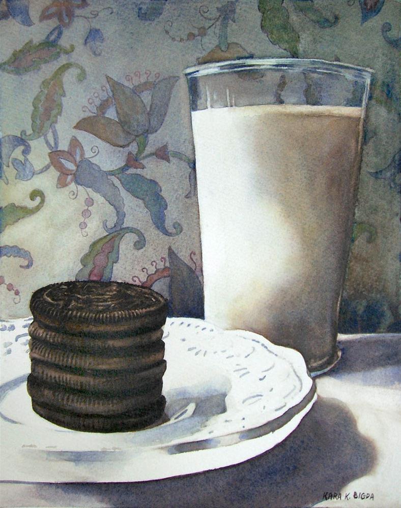 """Snack-time"" original fine art by Kara K. Bigda"