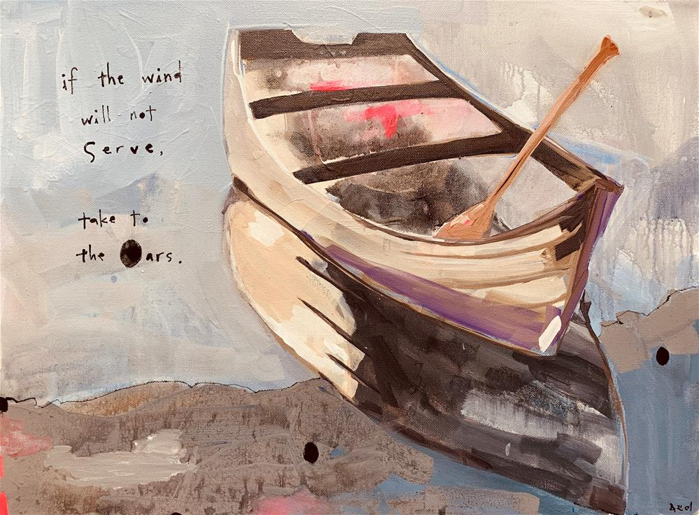 """755 Take to the Oars"" original fine art by Jenny Doh"