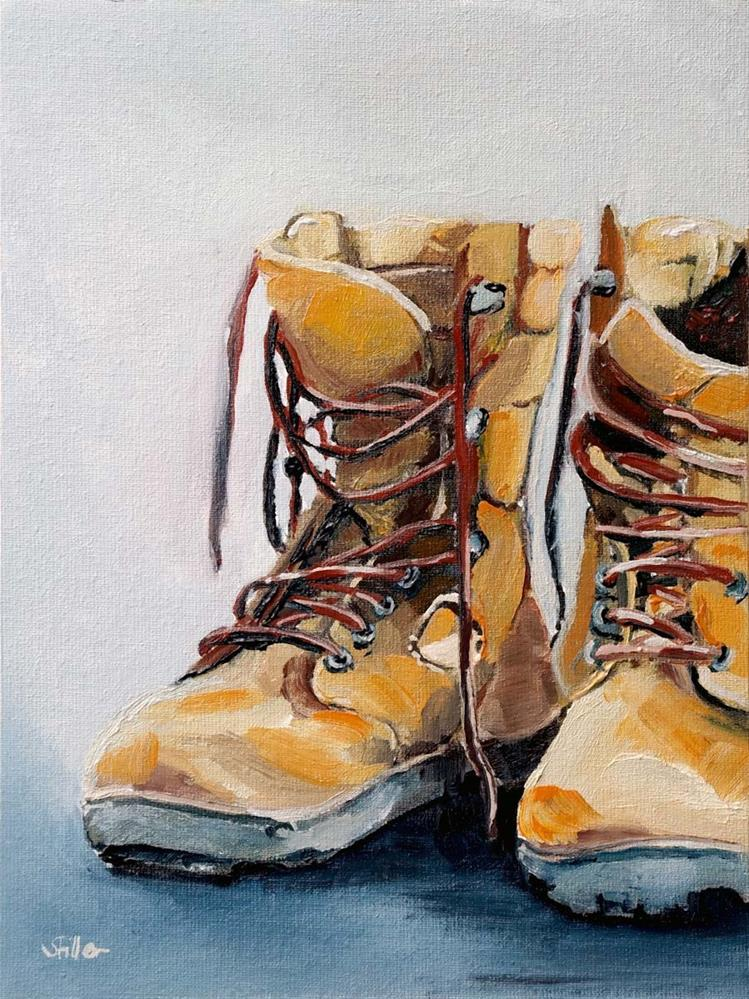 """3146 Wanderboots"" original fine art by Dietmar Stiller"