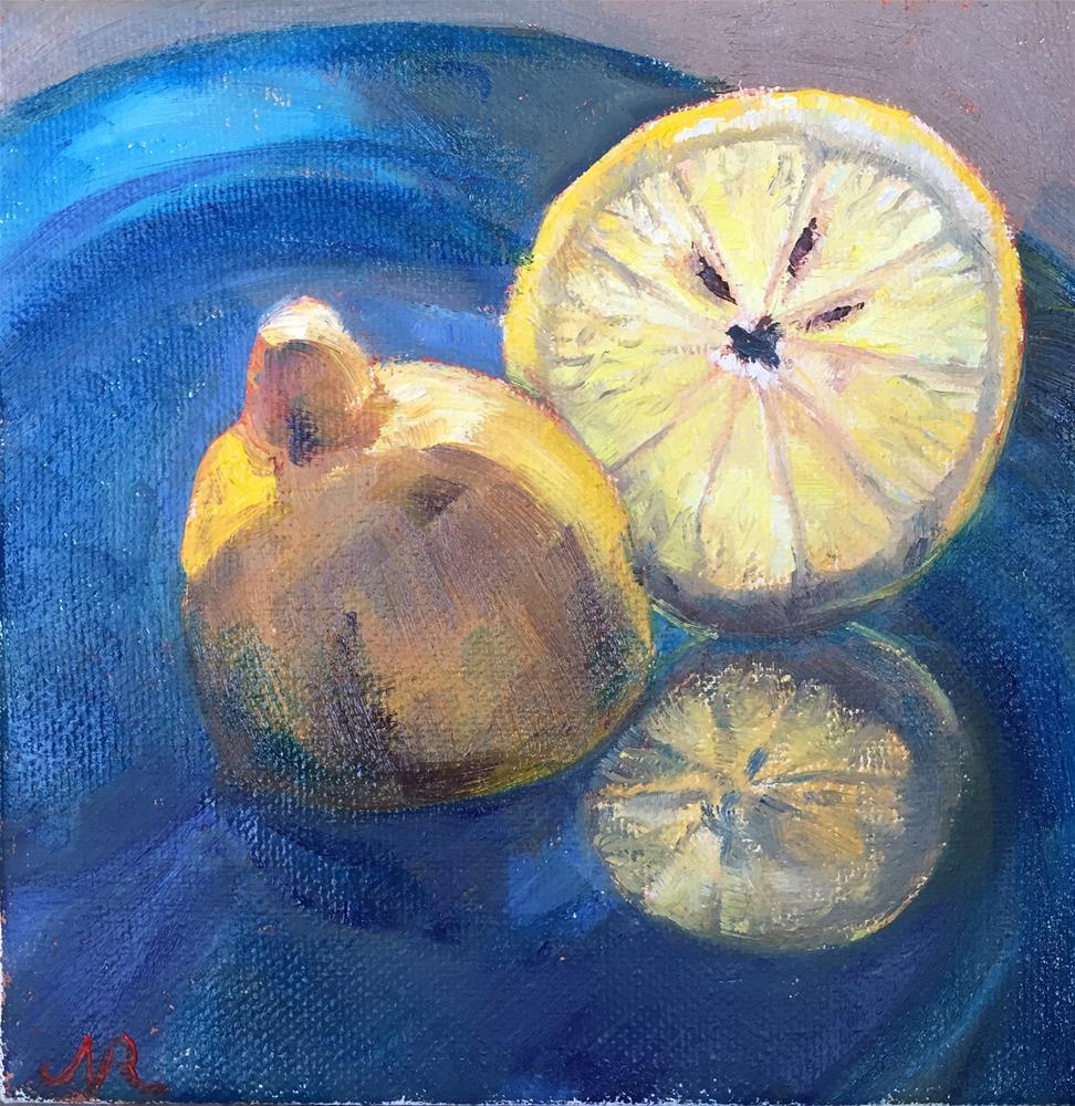 """Lemon slice"" original fine art by Natasha Ramras"