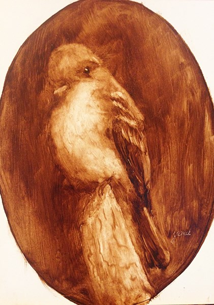 """His Eye is on the Sparrow"" original fine art by Jamie Williams Grossman"