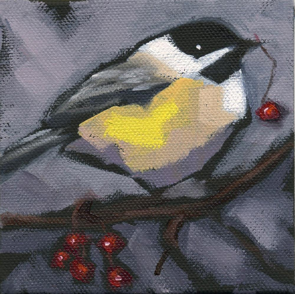 """SOLD-Thanks-Giving Bird"" original fine art by Nancy Parsons"