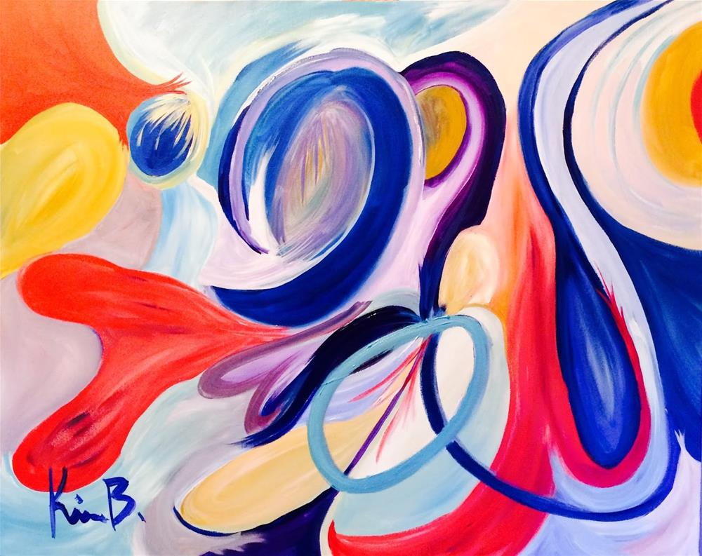 """Ribbons"" original fine art by Kimberly Balentine"
