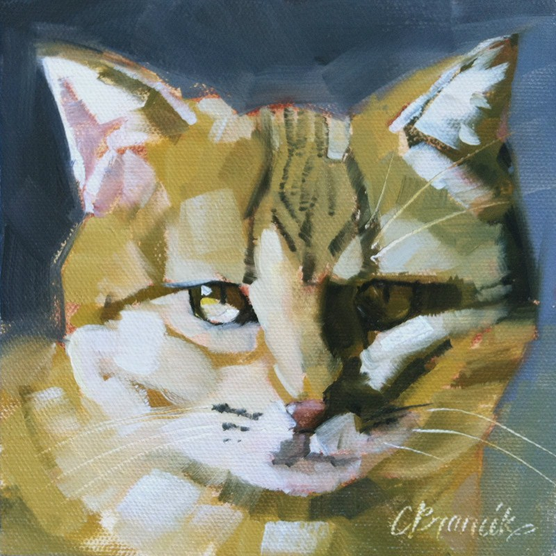 """""""In Your Face"""" original fine art by Candace Brancik"""