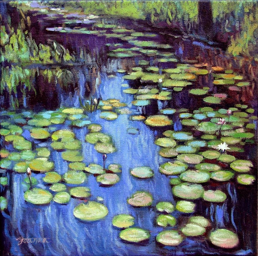 """Water Lily Pond Reflections"" original fine art by Joanna Bingham"