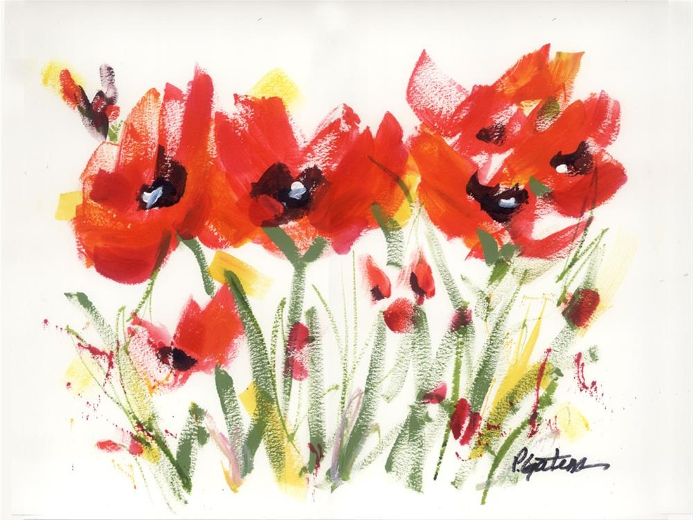 """Red Poppy Graphic"" original fine art by Pamela Gatens"