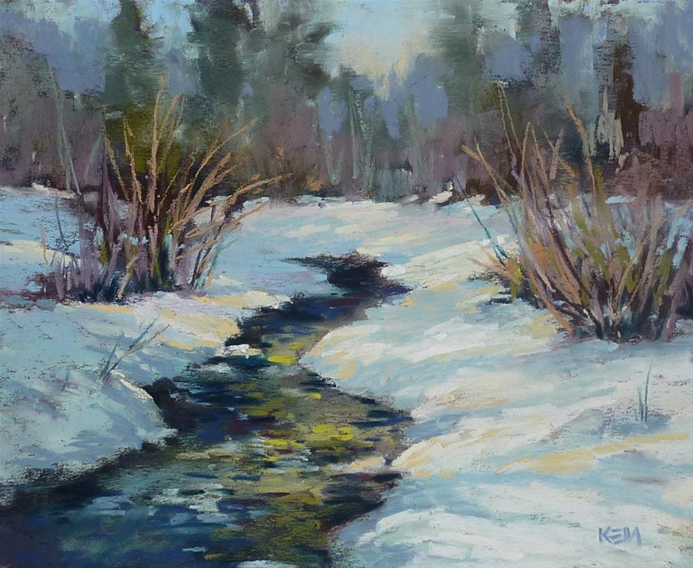 """Painting Shadows & Light on Snow Part 2...The Light"" original fine art by Karen Margulis"