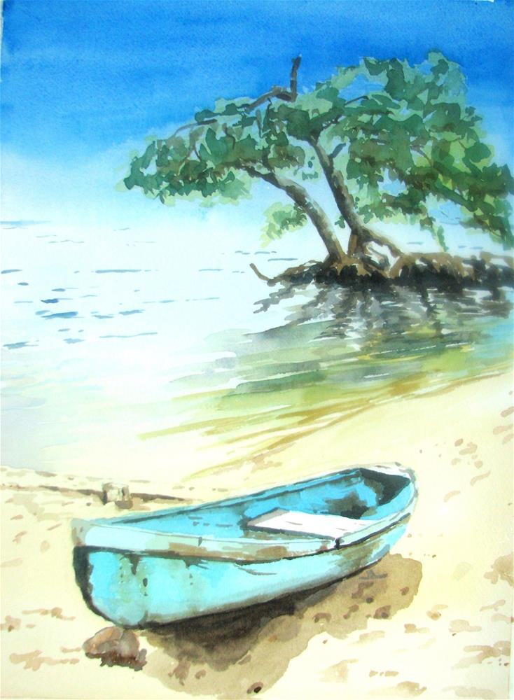 """Belize and mangroves"" original fine art by Crisynda Buss"