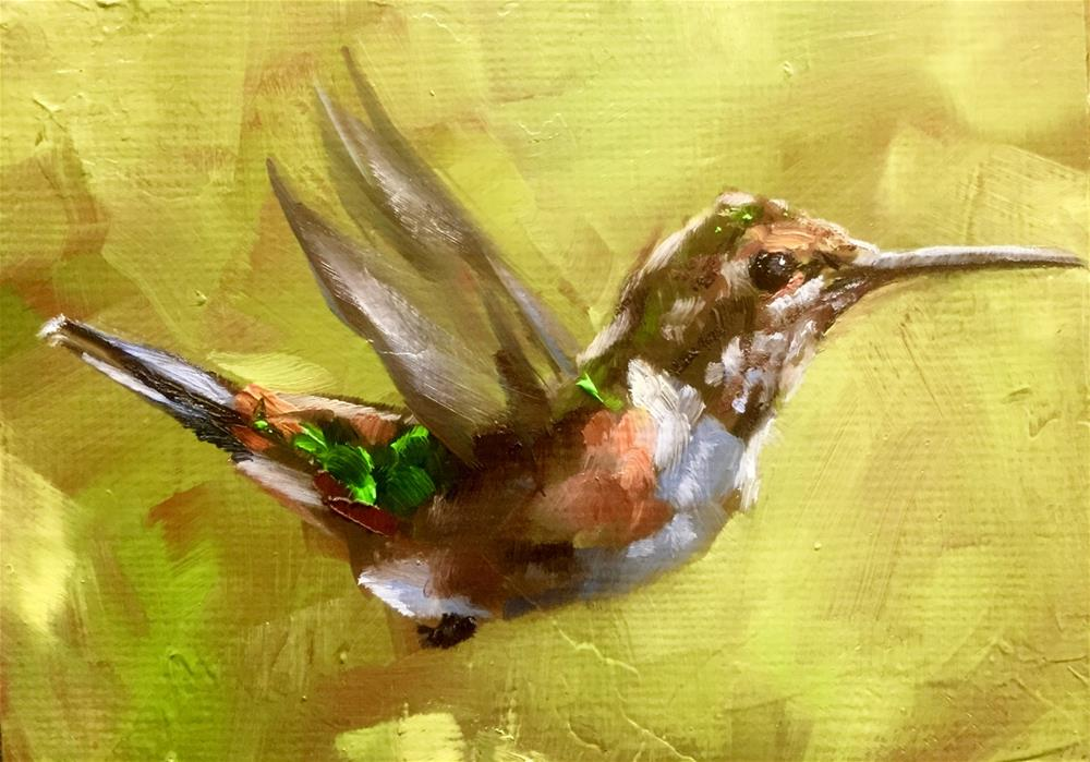 """""""No Time for Chitchat"""" original fine art by Gary Bruton"""