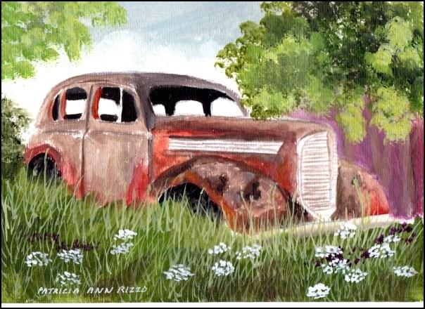 """""""Rust in Peace"""" original fine art by Patricia Ann Rizzo"""