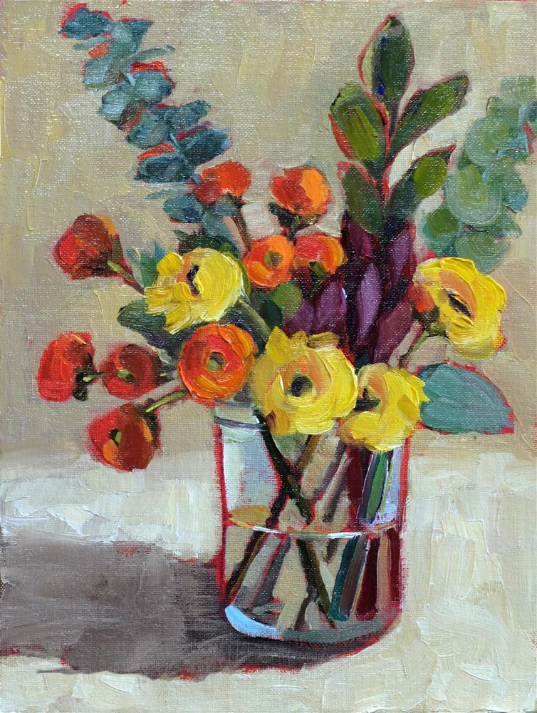 """""""Crowds in the Mason Jar"""" original fine art by Martha Lever"""