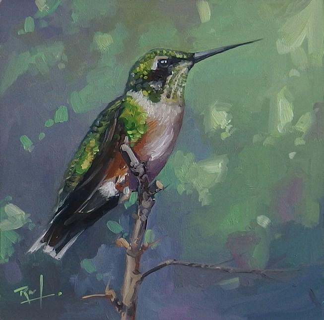 """No 827 Garden Jewel No 2"" original fine art by Robin J Mitchell"