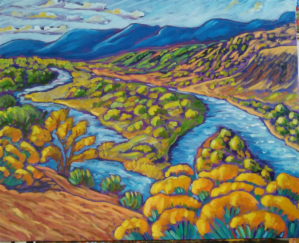 """""""Spring at the Chama"""" original fine art by Robyn Wellman"""