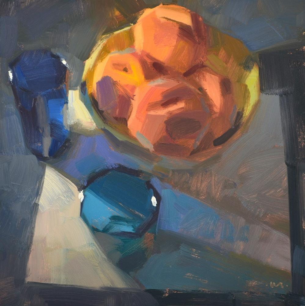 """When Blue Eat Peaches"" original fine art by Carol Marine"