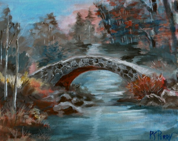 """Arched Bridge"" original fine art by R. S. Perry"