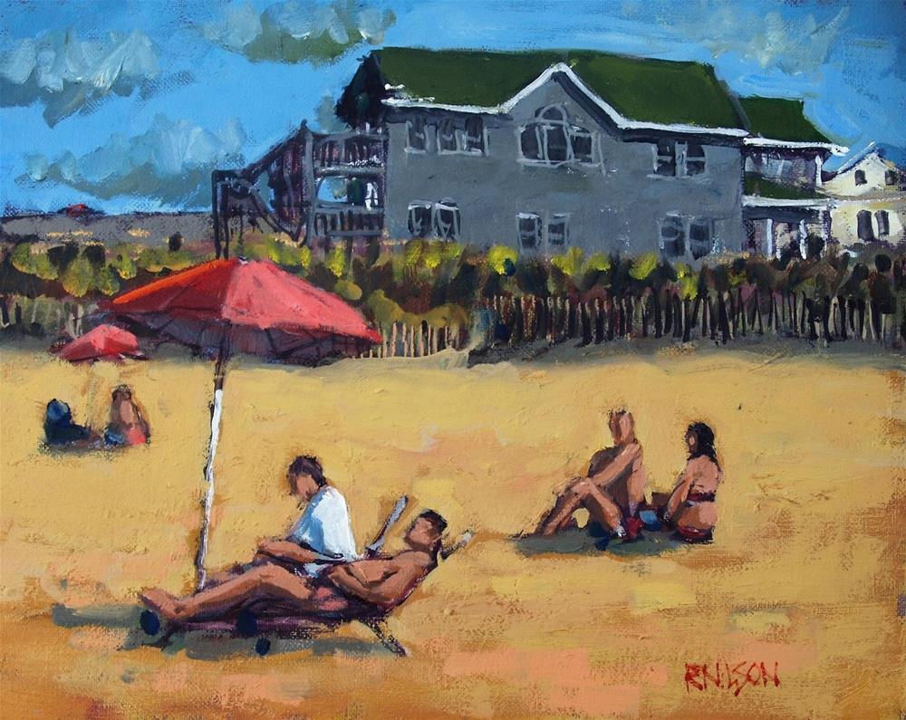 """Beach House"" original fine art by Rick Nilson"