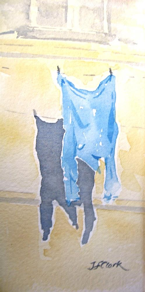 """Italy, Blue Shirt"" original fine art by Judith Freeman Clark"