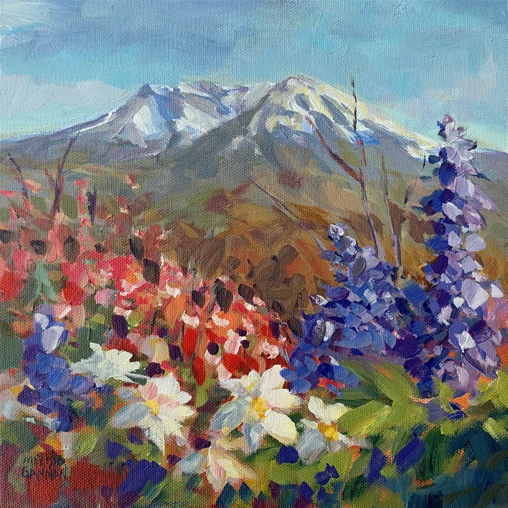 """Snows Recede, Wildflowers Bloom"" original fine art by Melissa Gannon"