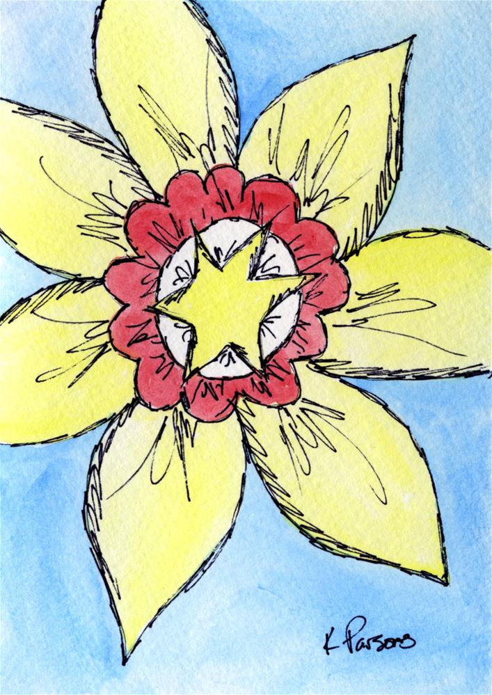 """Star Flower"" original fine art by Kali Parsons"