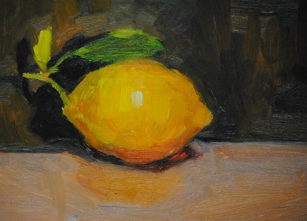 """Miriam's Lemon"" original fine art by Laurie Johnson Lepkowska"