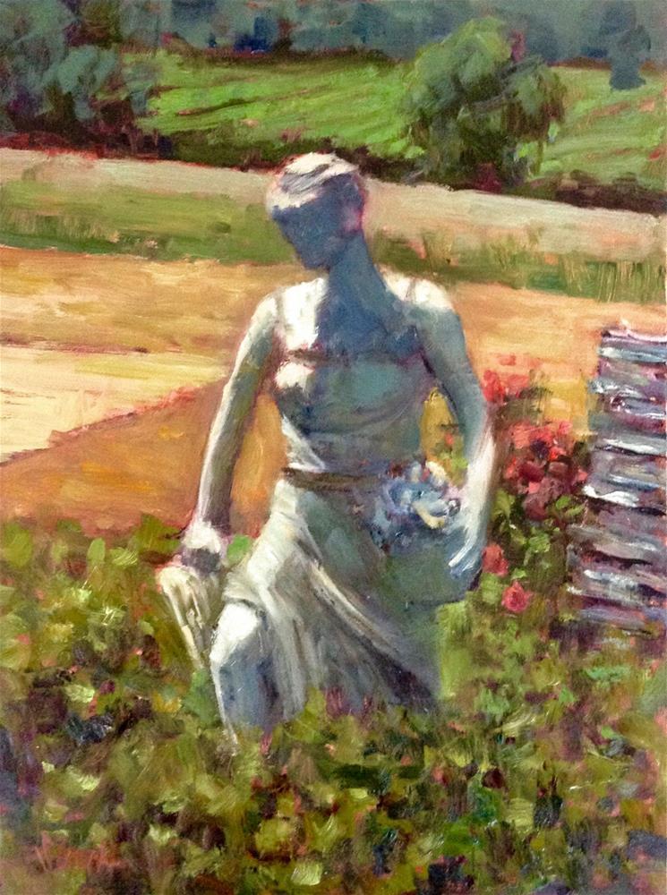"""""""Vineyard Maiden"""" original fine art by Barbie Smith"""
