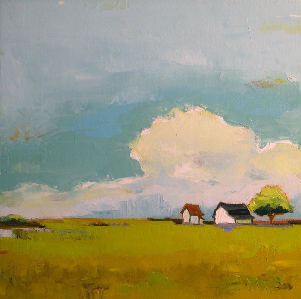 """Clouds Roll By II"" original fine art by Donna Walker"