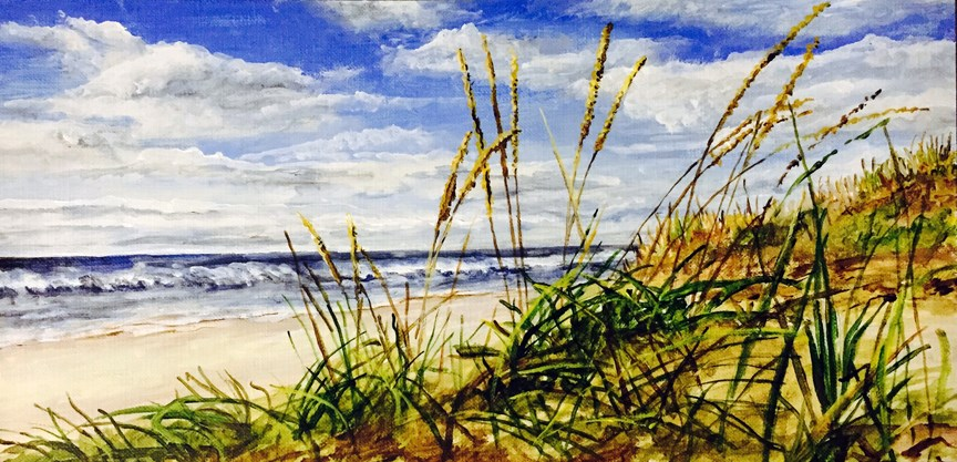 """Shore Grass"" original fine art by Nan Johnson"