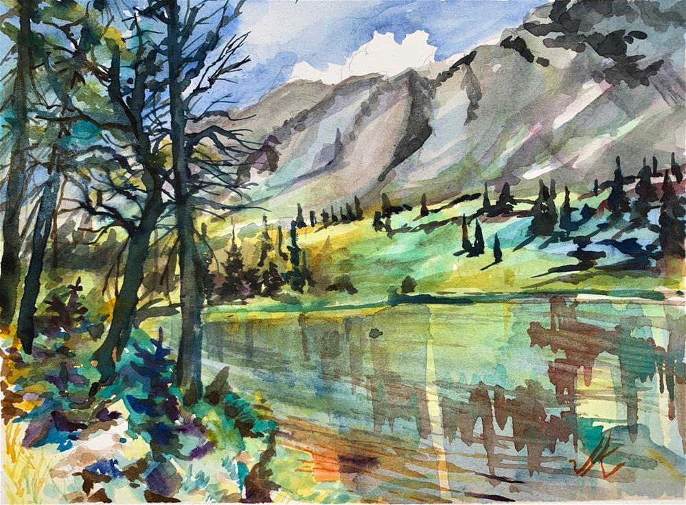 """""""Goodwin Lake, Colorado"""" original fine art by Jean Krueger"""