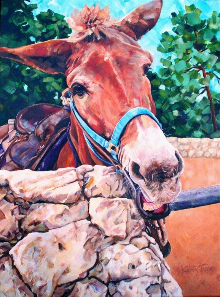 """MULEHEADED"" original fine art by Kristy Tracy"