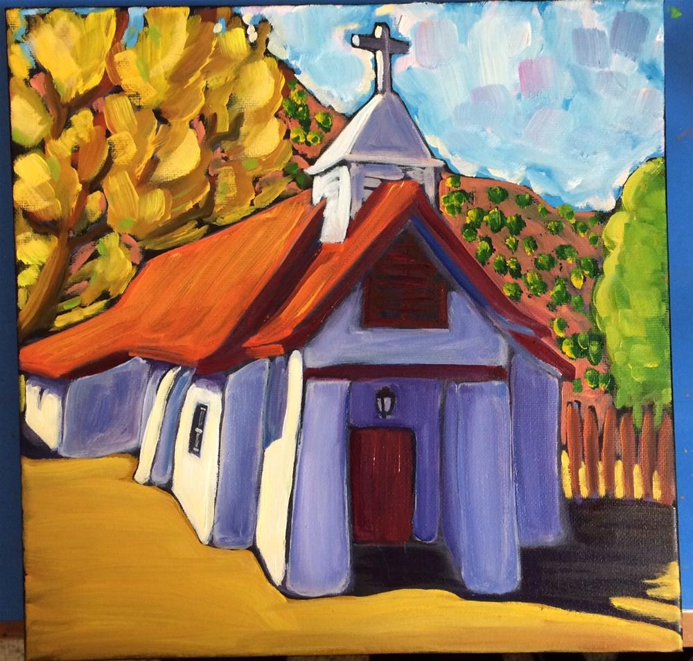 """""""Church in Pilar New Mexico"""" original fine art by Robyn Wellman"""