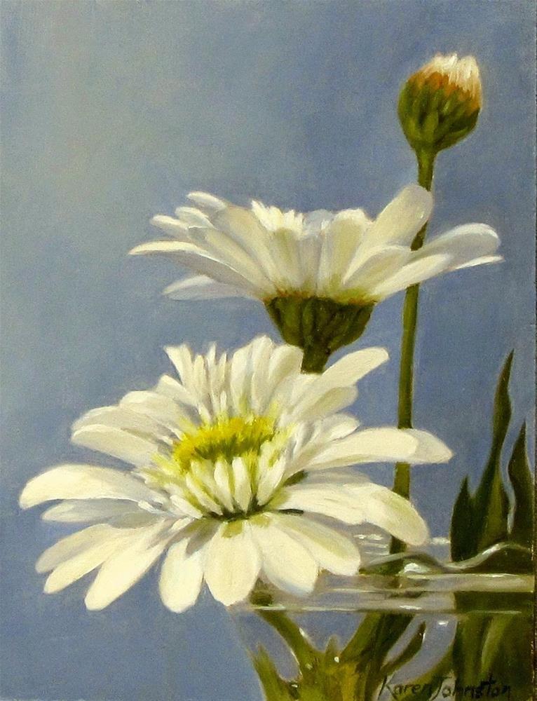 """""""Daisy Love"""" original fine art by Karen Johnston"""