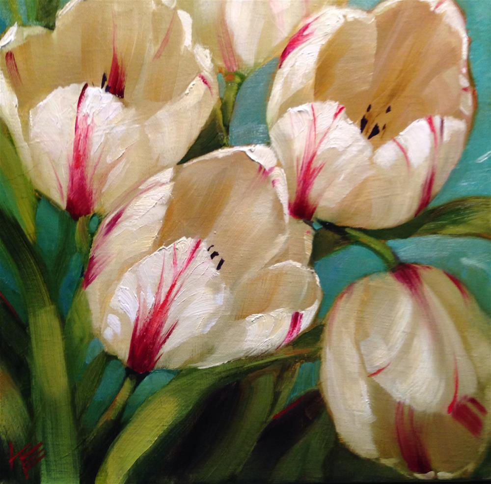 """Passionately 12x12 oil on canvas"" original fine art by Krista Eaton"