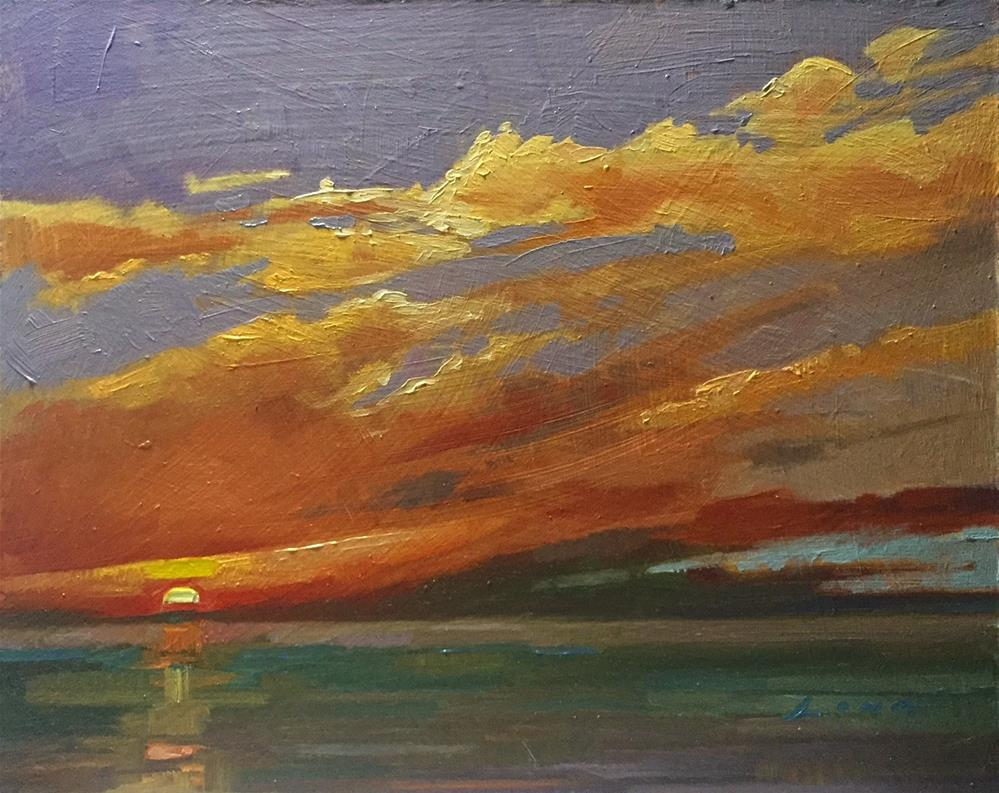 """Pacific Sunset"" original fine art by Chris Long"