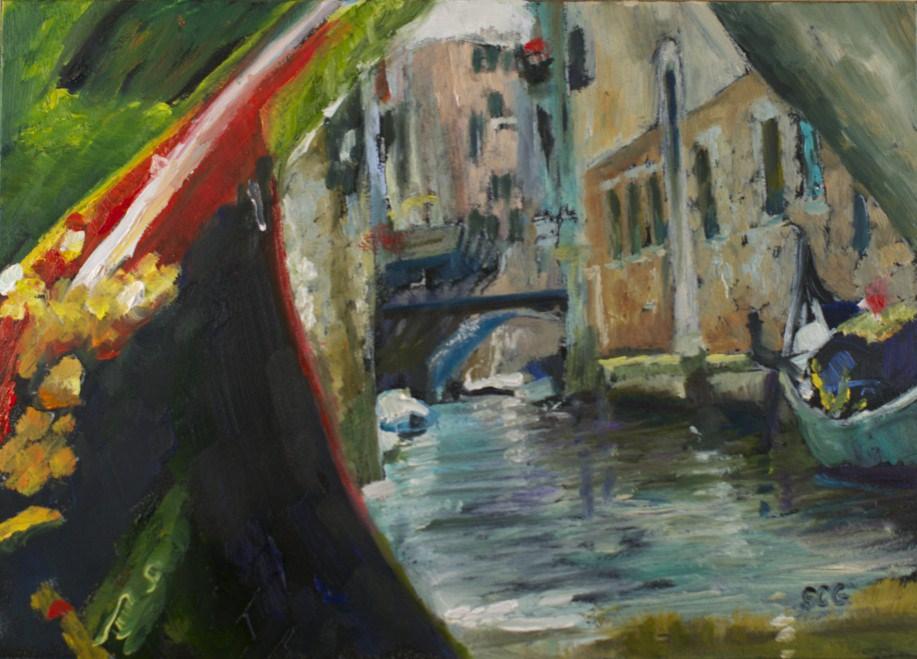 """""""Venice From my Gondola"""" original fine art by Sue Churchgrant"""