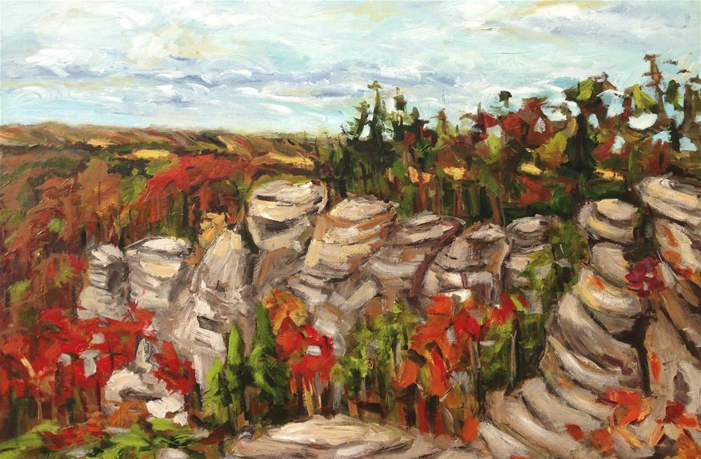 """Garden of Gods"" original fine art by Alina Vidulescu"