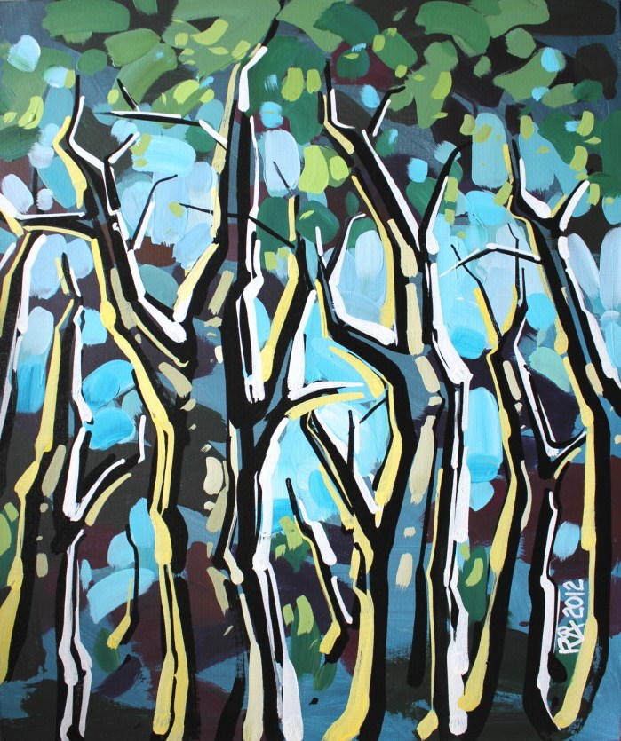 """""""Tree abstraction 18"""" original fine art by Roger Akesson"""