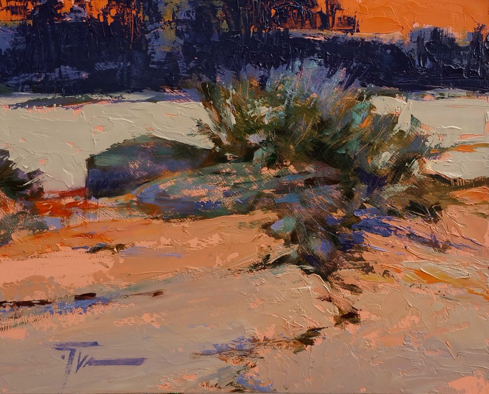 """Chasing Dusk"" original fine art by Jennifer Evenhus"