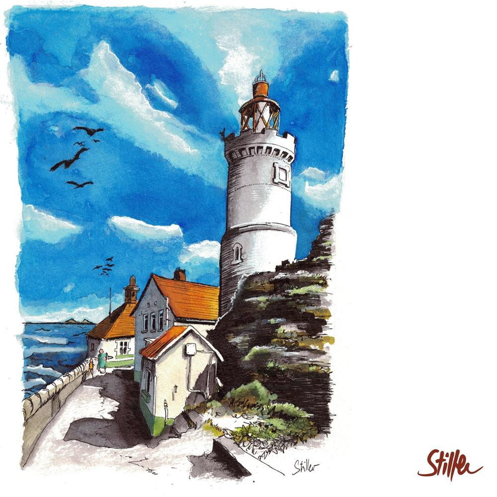"""3439 Dramatic Lighthouse"" original fine art by Dietmar Stiller"