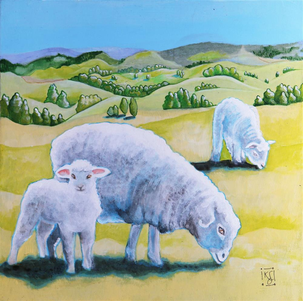 """In the Field"" original fine art by Kathleen Straube"