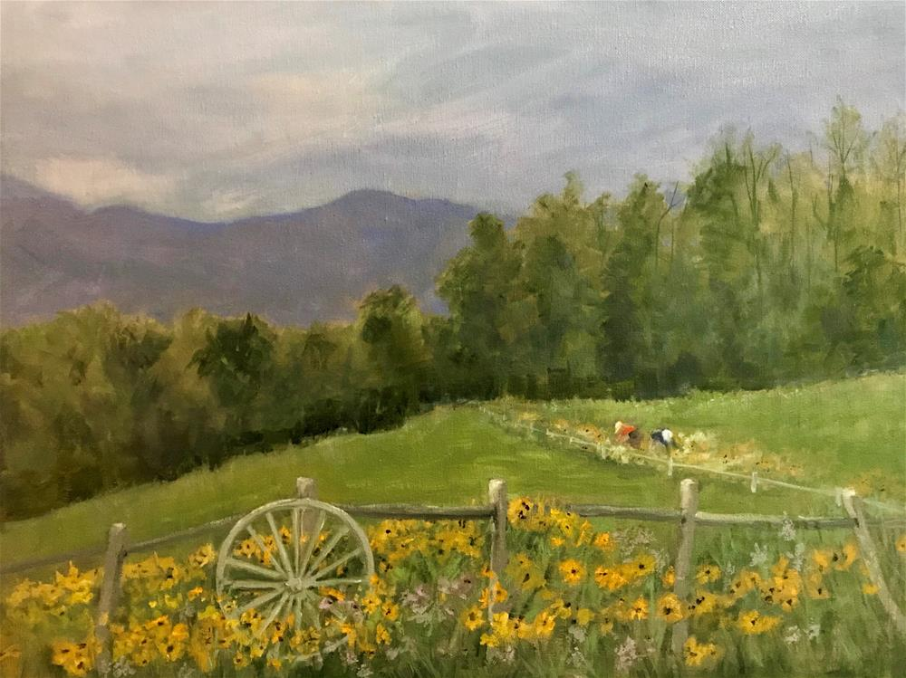 """""""garden at The Von Trapp Family Lodge"""" original fine art by Betty Argiros"""