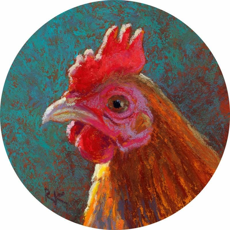 """Chick Profile #4 - day 24"" original fine art by Rita Kirkman"